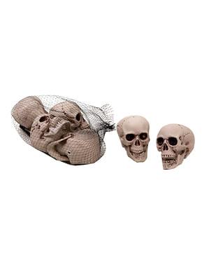 6 décorations tête de mort