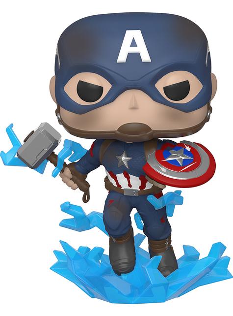Funko POP! Captain America bouclier cassé et Mjolnir - Avengers Endgame