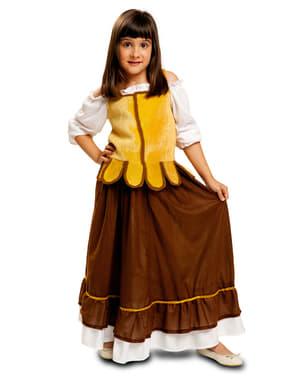Tyttöjen keskiaikainen tarjoilijatar - asu