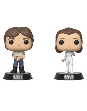 Funko POP! Leia et Han Solo - Star Wars: Épisode V - L'Empire contre-attaque