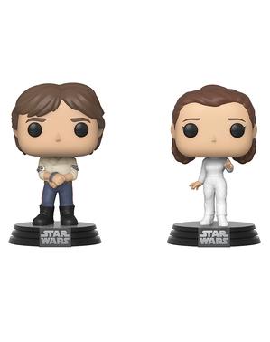 Funko POP! Leia y Han Solo - Star Wars: Episodio V - El imperio contraataca