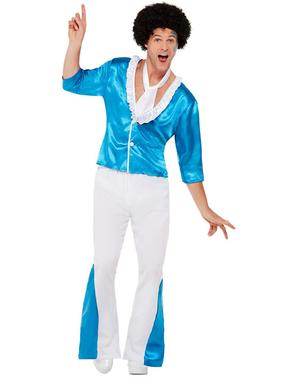 Hvidt 70er Disko Kostume til Mænd