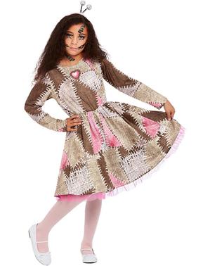 Voodoo-Puppen Kostüm für Mädchen