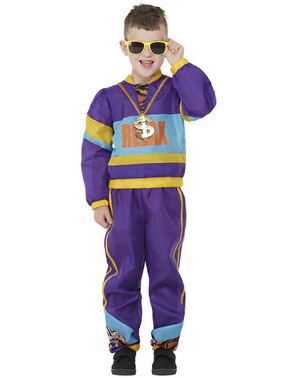 80-tallet kostyme til gutter i lilla