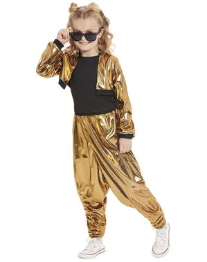 80-tallet Hammer Time Kostyme til Jenter