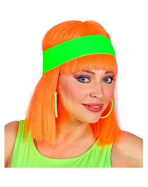 Cinta para la cabeza verde neón