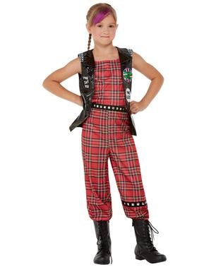 Disfraz de punk para niña