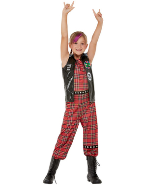Punk kostým pre dievčatá