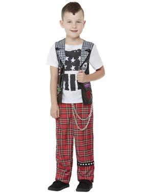 Fato de punk para menino