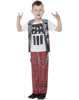 Punk kostým pre chlapcov