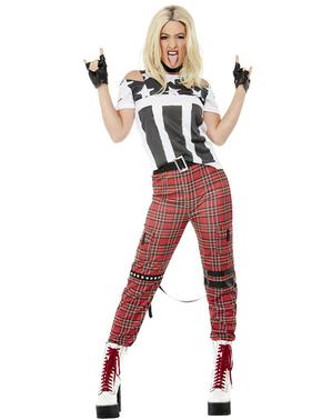 Disfraz de punk para mujer