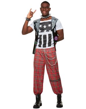 Costume da punk da uomo