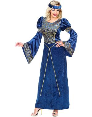 Renaissance Kostüm blau für Damen