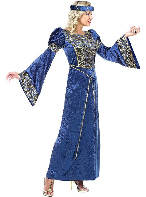 Niebieski Strój renesansowy dla kobiet