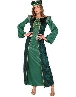 Zelené šaty středověká princezna
