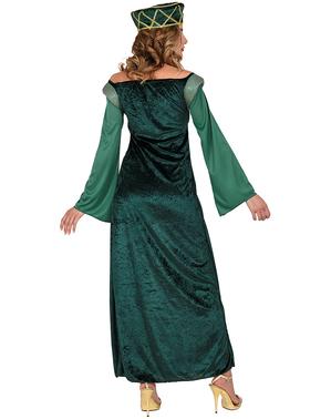 Costume da principessa medievale verde