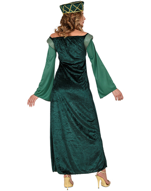 Robe princesse médiévale vert
