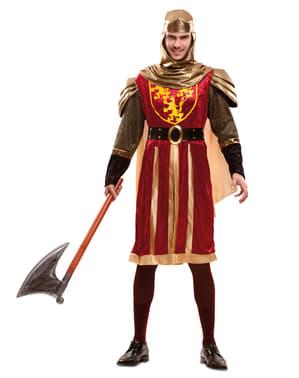 Déguisement chevalier croisade rouge homme