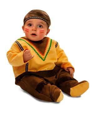 Apache indiaan kostuum voor baby