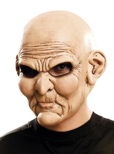 Máscara de viejo psicópata para adulto