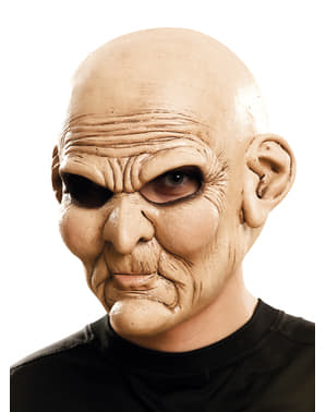 Adult's Psychopathic Old Man Mask