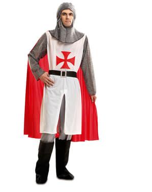 Moški viteški templarski kostum