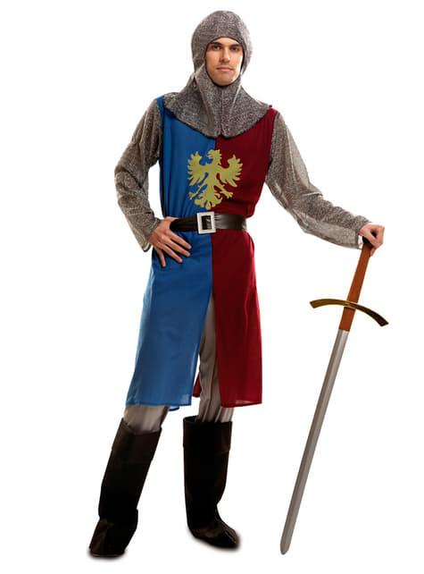 Disfraz de caballero del medievo para hombre