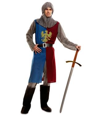 Fato de cavaleiro medieval para homem