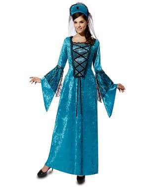 Fato de princesa medieval para mulher