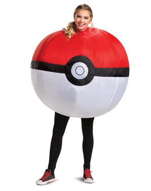 Opblaasbaar Pokéball-kostuum - Pokémon