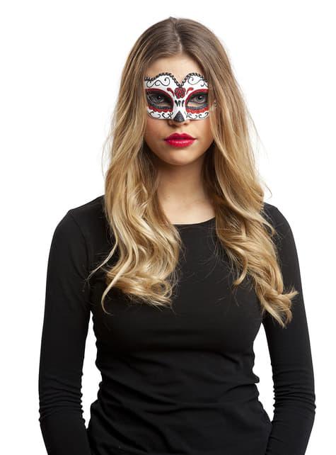 Antifaz de Catrina mexicana para mujer