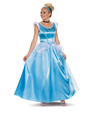 Deluxe Blåt Askepot Kostume til Kvinder