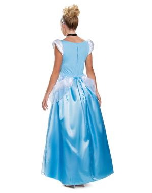 Costum Cenușăreasa albastru deluxe pentru femeie