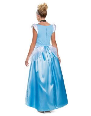 Deluxe Blue Cinderella Costume for Women