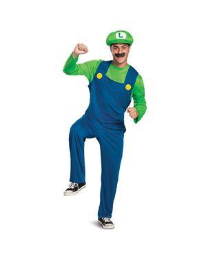 Luigi dräkt för vuxna