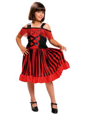 Costum de dansatoare can-can pentru fată
