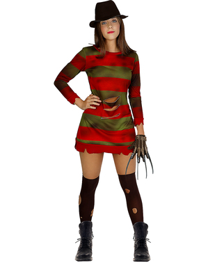 Freddy Krueger kostyme til Dame - A Nightmare on Elm Street