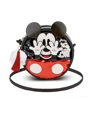 Borsa di Topolino rotonda con pailettes - Disney