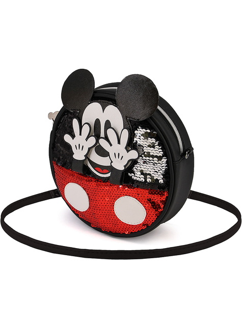 Round Mickey Mouse Bag with Sequins - Disney