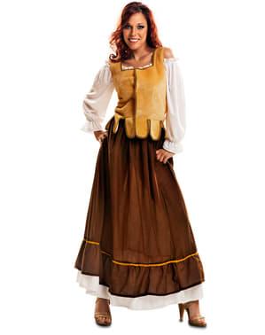 Kostium dziewczyna z zajazdu średniowiecznego damski