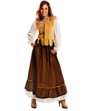 Mittelalterliche Gastwirtin Kostüm für Damen