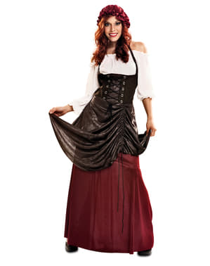 Middelaldersk Bardame Kostyme til damer