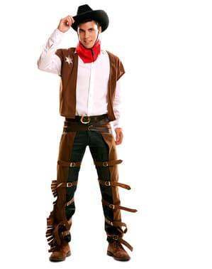 Чоловічий пістолет, стропаючи ковбойський костюм