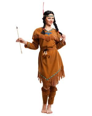 Indianer kostyme til dame