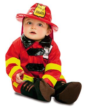 Costum de pompier curajos pentru bebeluși