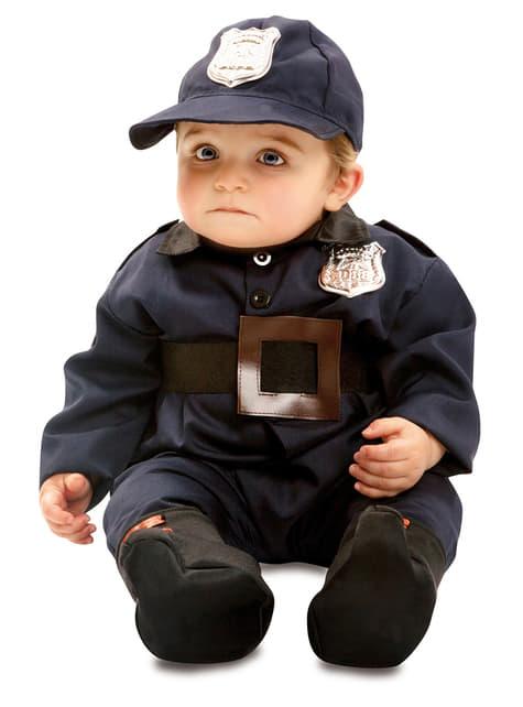 Fato de polícia valente para bebé