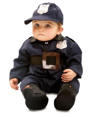 Waardige politie kostuum voor baby