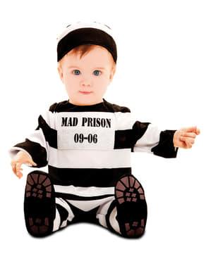 Strój więzień za kratkami dla niemowląt