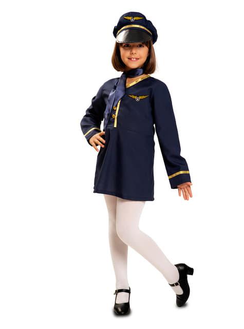 Girl's Flight Attendant Costume