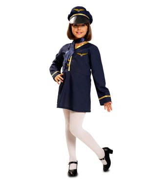 Disfraz de piloto para niña